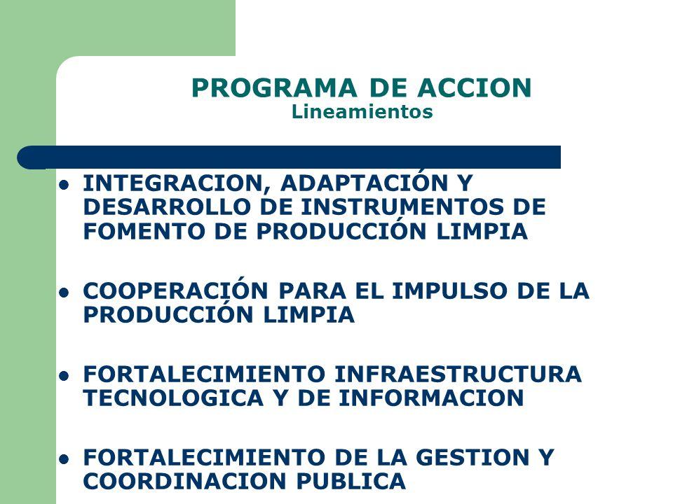 PROGRAMA DE ACCION Lineamientos