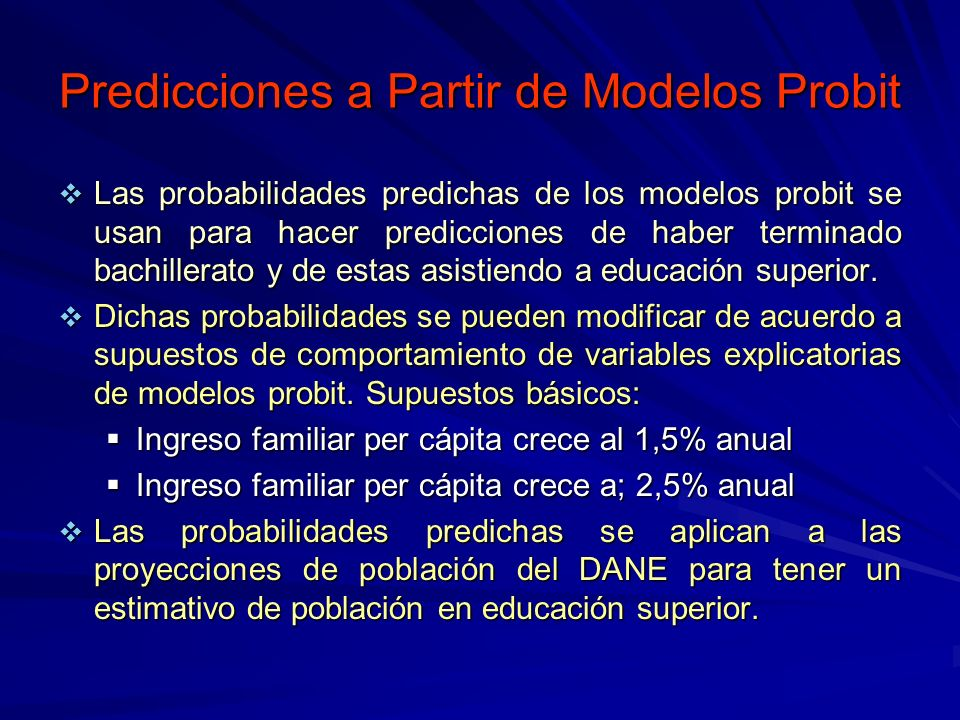 Predicciones a Partir de Modelos Probit