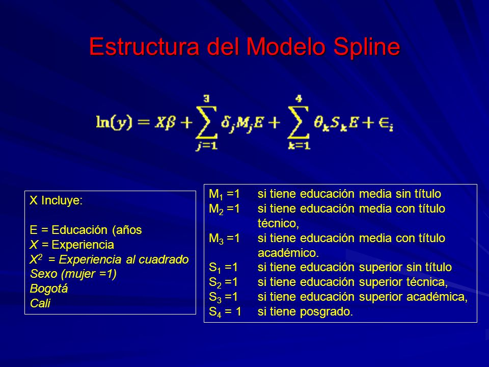 Estructura del Modelo Spline
