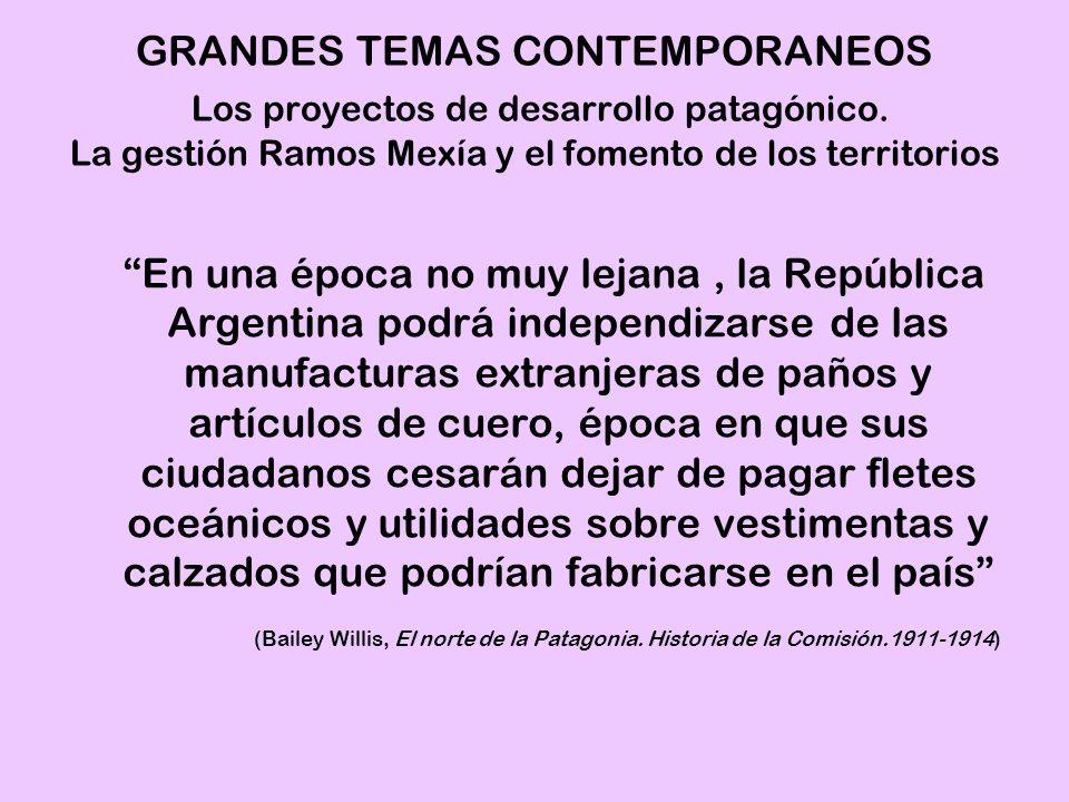 GRANDES TEMAS CONTEMPORANEOS Los proyectos de desarrollo patagónico