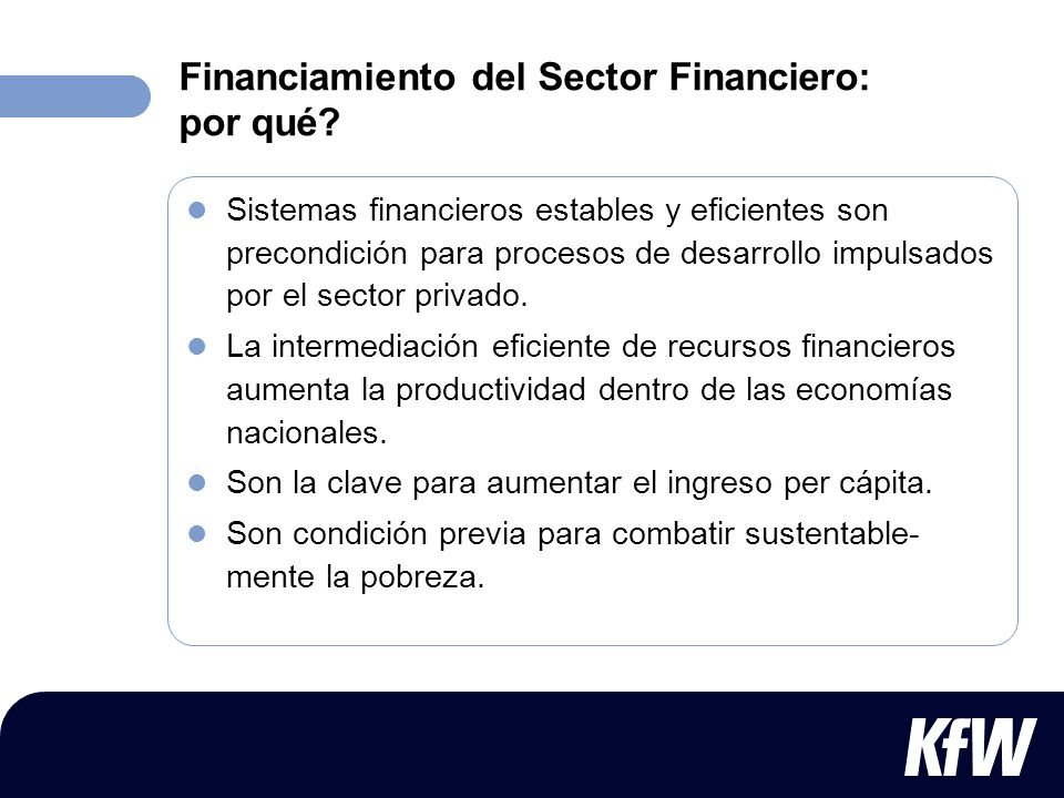 Financiamiento del Sector Financiero: por qué