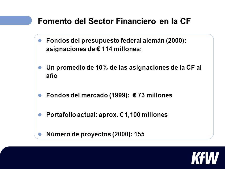Fomento del Sector Financiero en la CF