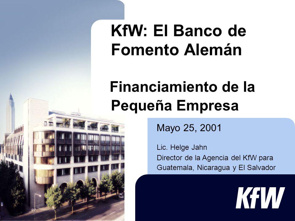 KfW: El Banco de Fomento Alemán