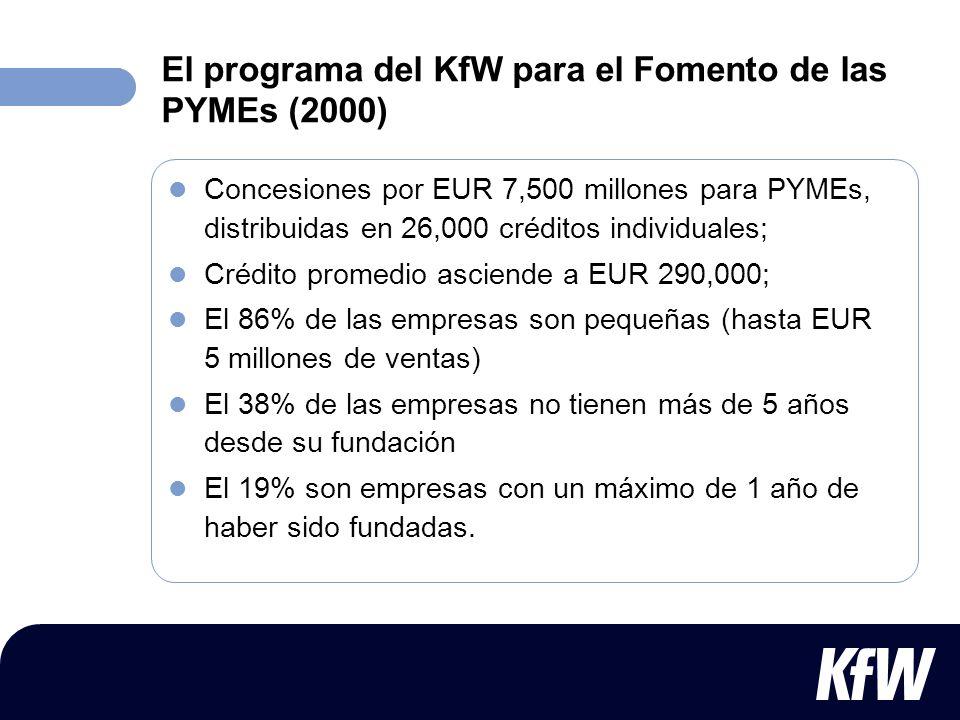 El programa del KfW para el Fomento de las PYMEs (2000)