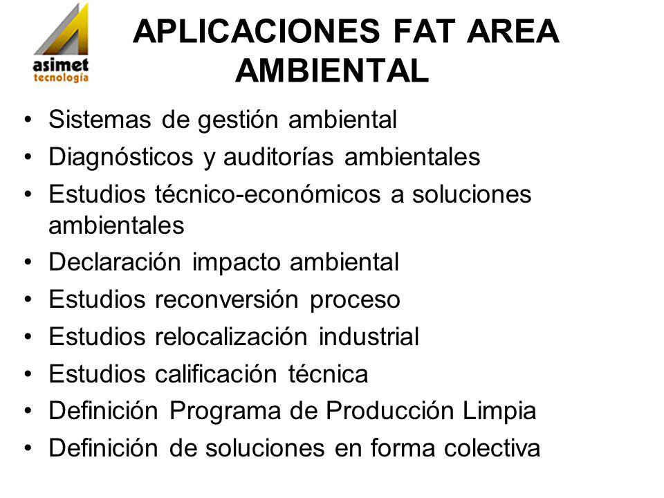 APLICACIONES FAT AREA AMBIENTAL