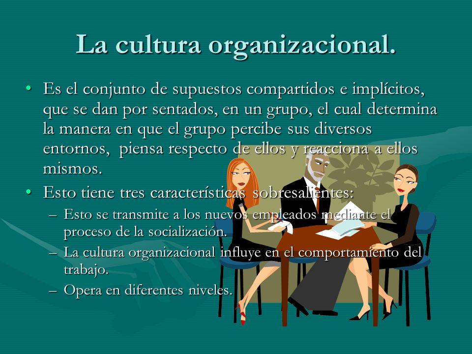 La cultura organizacional.