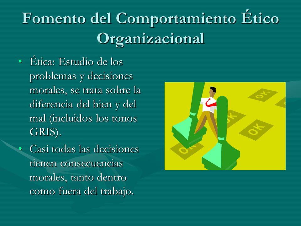 Fomento del Comportamiento Ético Organizacional