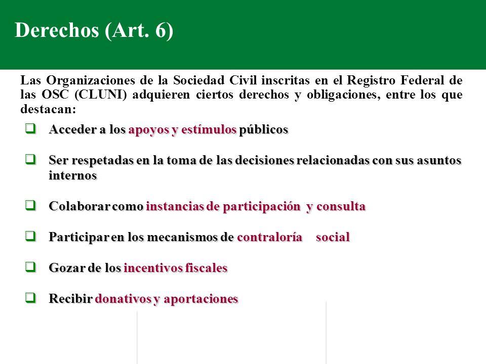 Derechos (Art. 6)