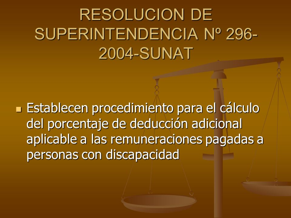 RESOLUCION DE SUPERINTENDENCIA Nº 296-2004-SUNAT