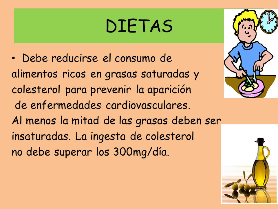 DIETAS Debe reducirse el consumo de