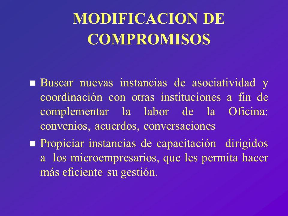 MODIFICACION DE COMPROMISOS