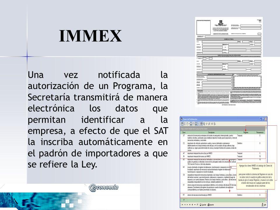 IMMEX En el ámbito fiscal, el decreto ofrece.