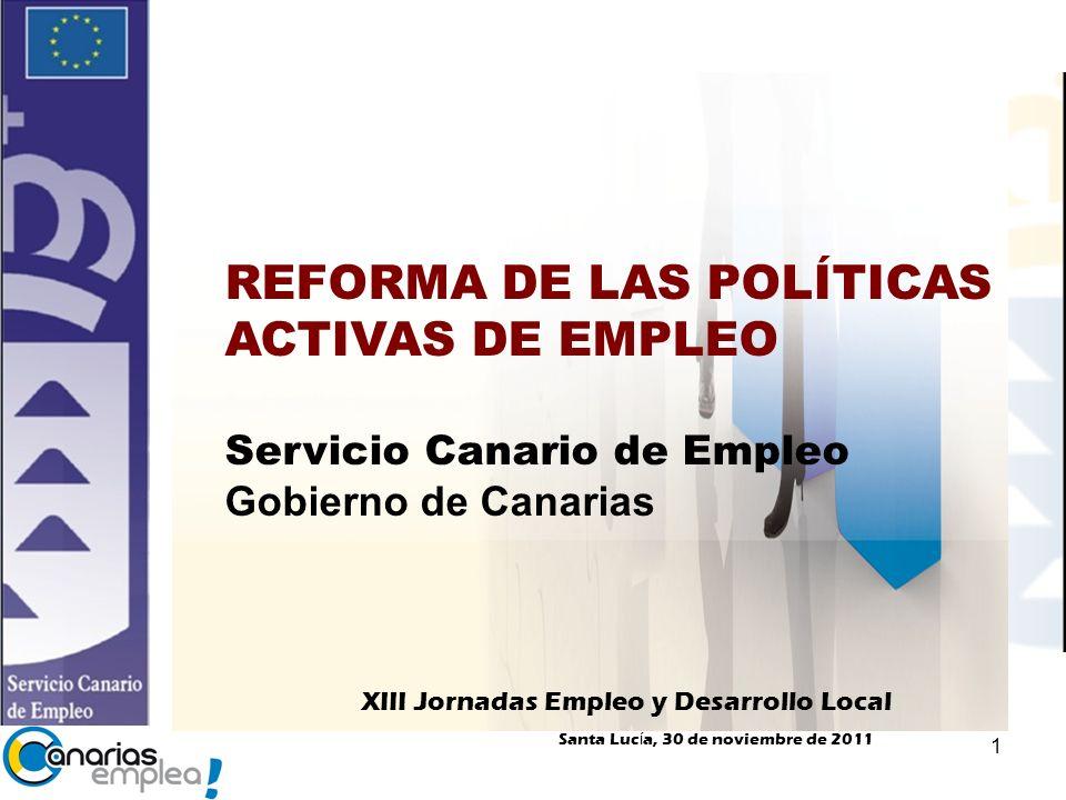 REFORMA DE LAS POLÍTICAS ACTIVAS DE EMPLEO