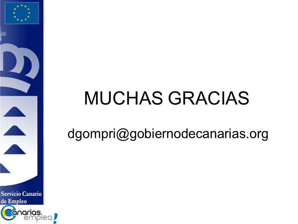MUCHAS GRACIAS dgompri@gobiernodecanarias.org 14