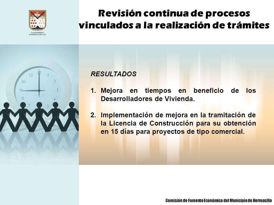 Revisión continua de procesos vinculados a la realización de trámites