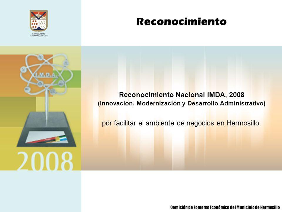 Reconocimiento Nacional IMDA, 2008
