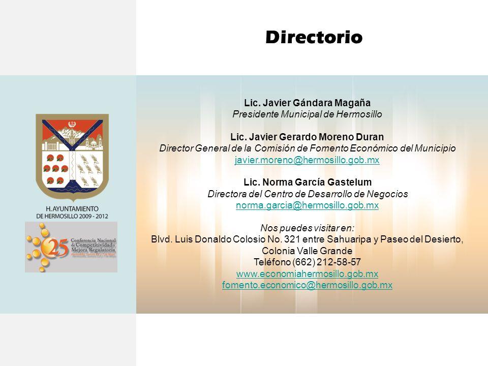 Directorio Lic. Javier Gándara Magaña