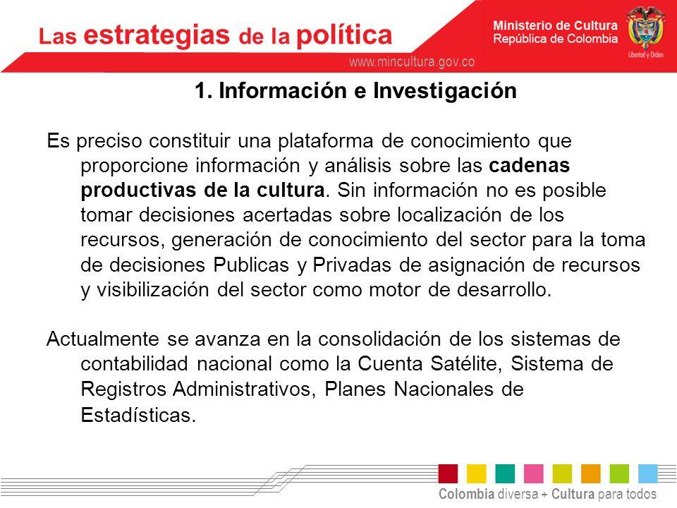 1. Información e Investigación