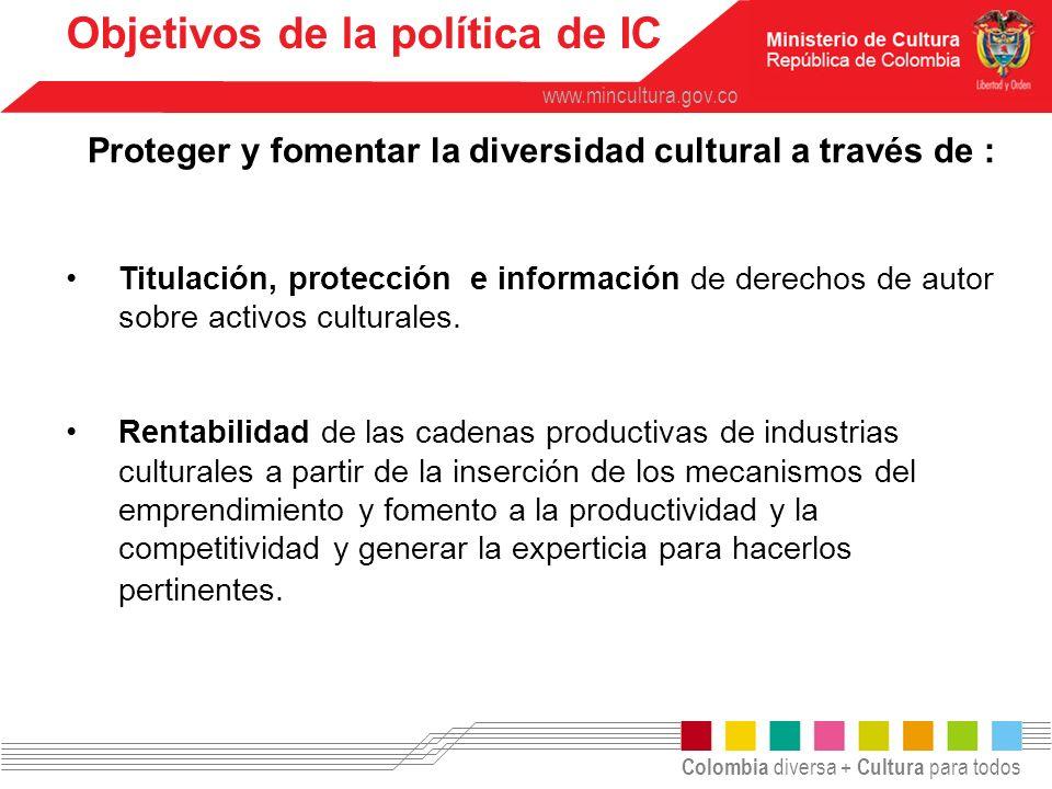 Objetivos de la política de IC