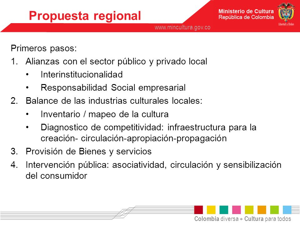 Propuesta regional Primeros pasos: