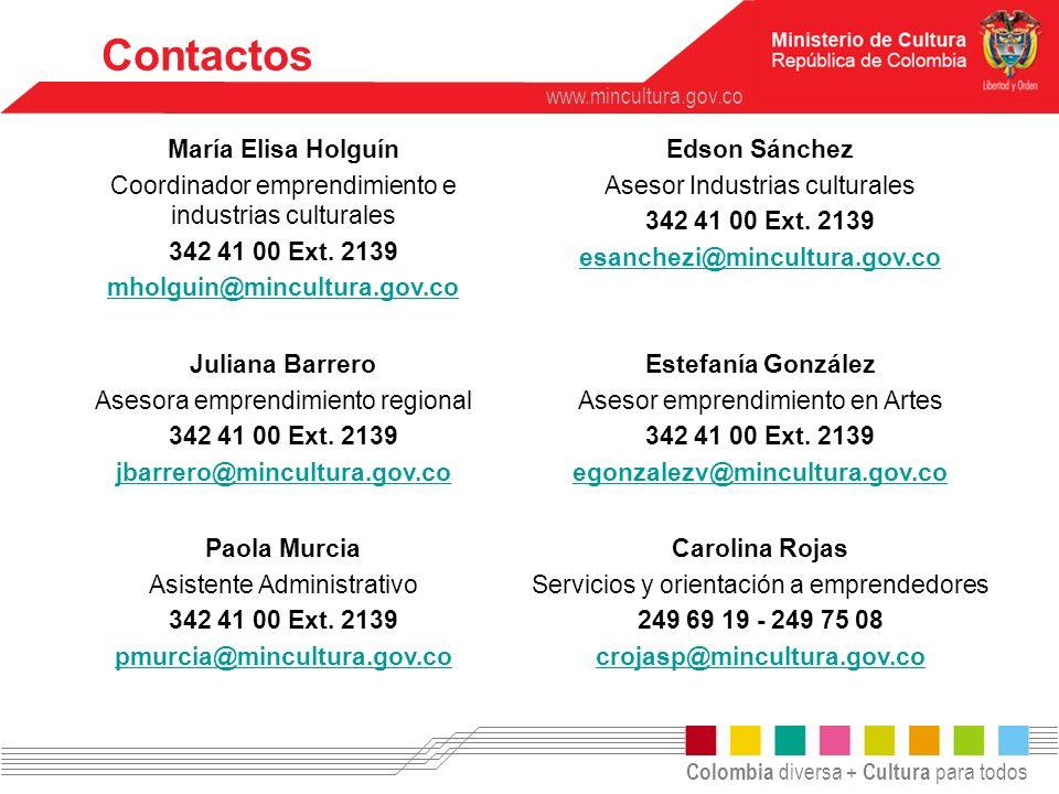 Contactos María Elisa Holguín