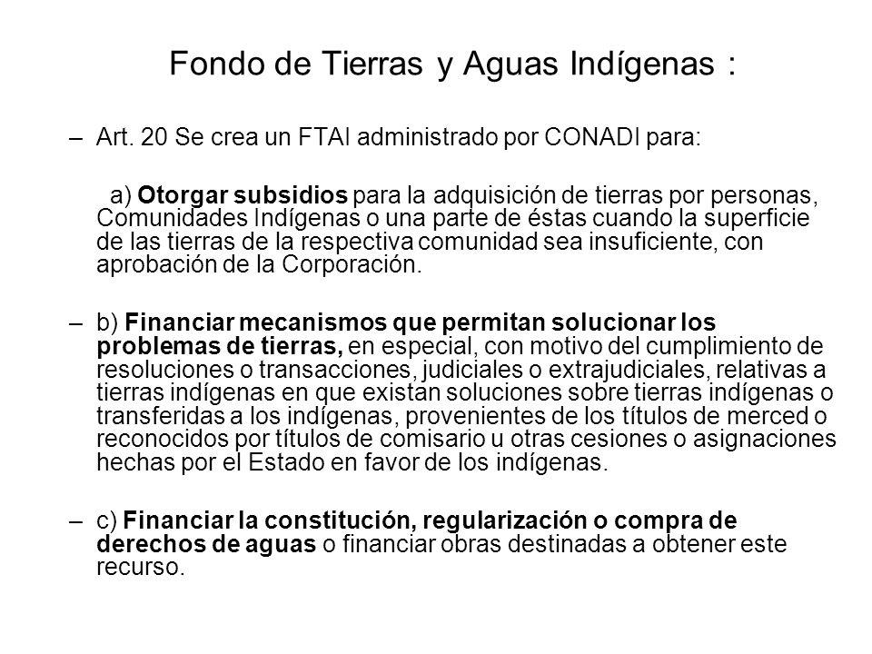 Fondo de Tierras y Aguas Indígenas :