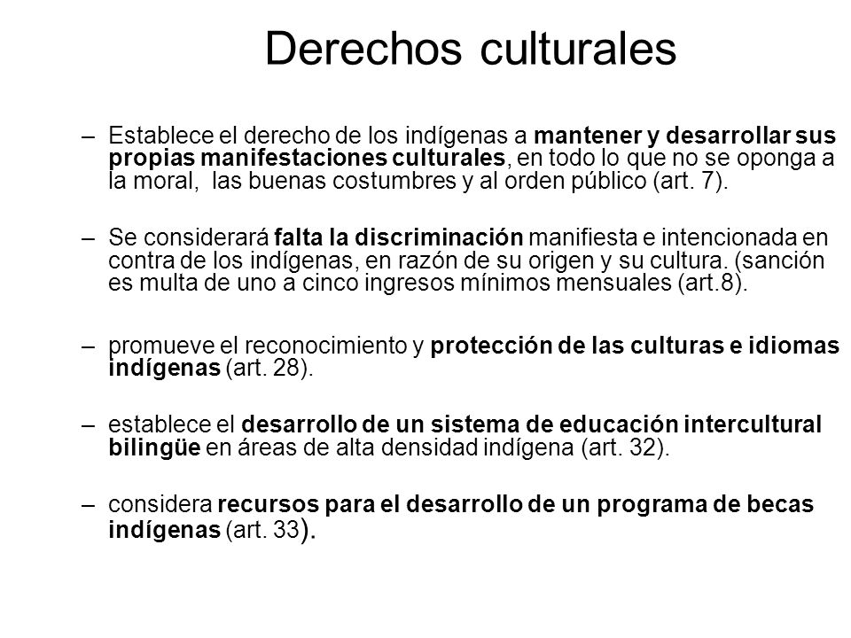 Derechos culturales