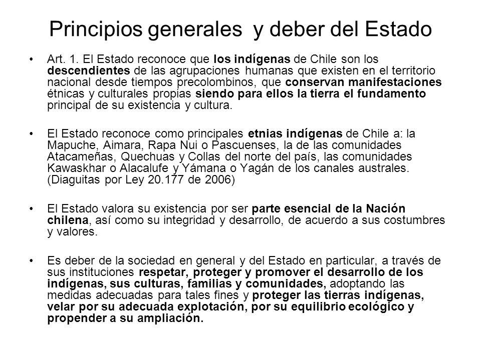 Principios generales y deber del Estado