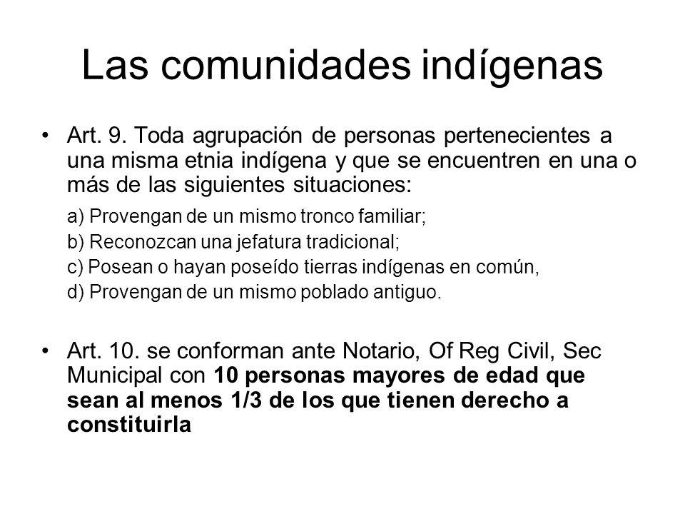 Las comunidades indígenas