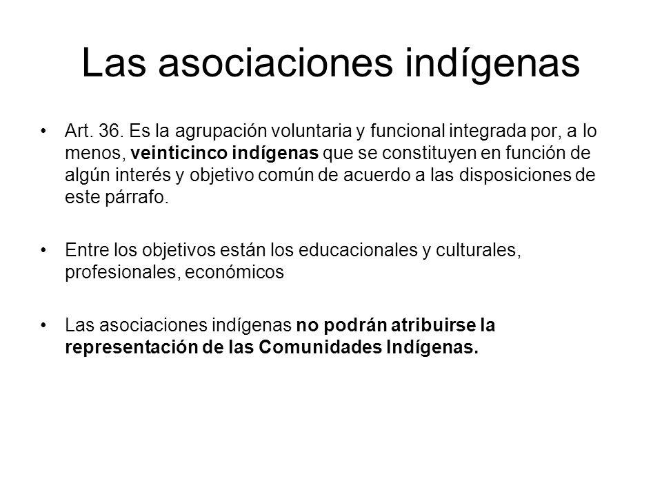 Las asociaciones indígenas