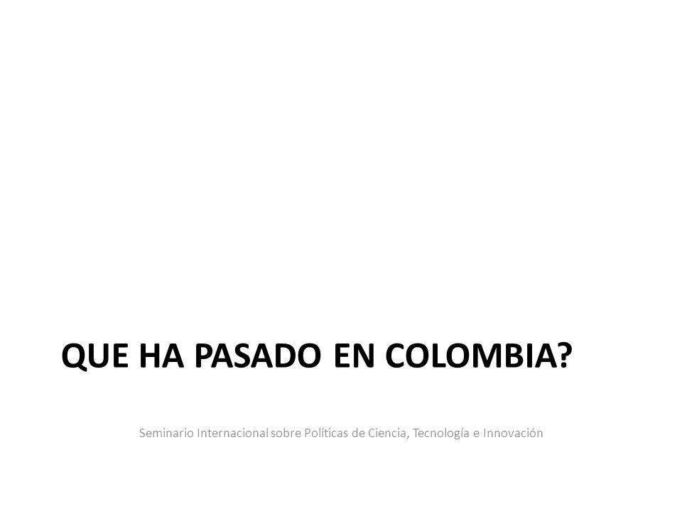que ha pasado en Colombia