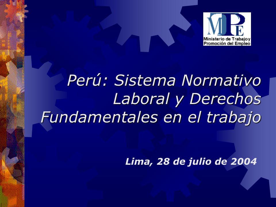 Perú: Sistema Normativo Laboral y Derechos Fundamentales en el trabajo