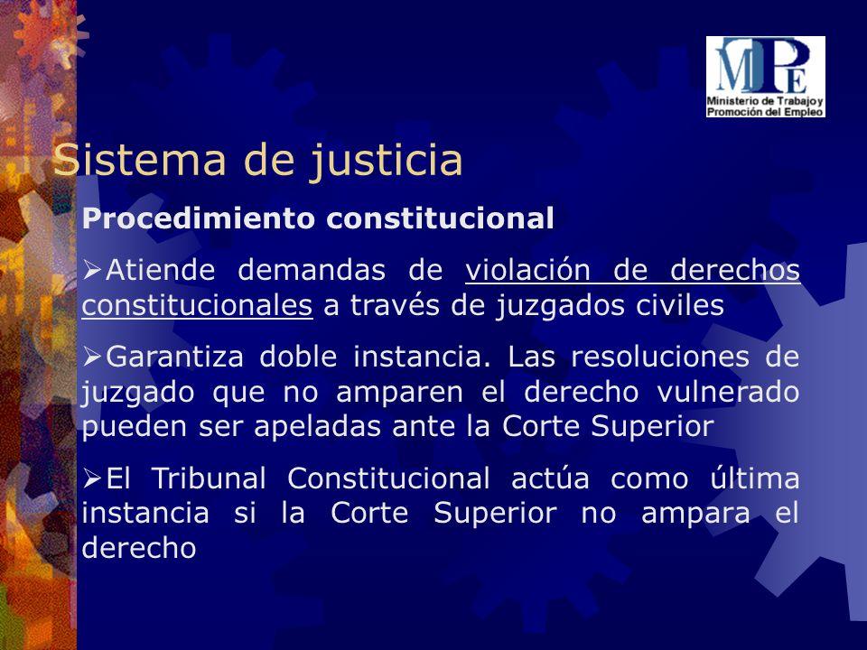 Sistema de justicia Procedimiento constitucional