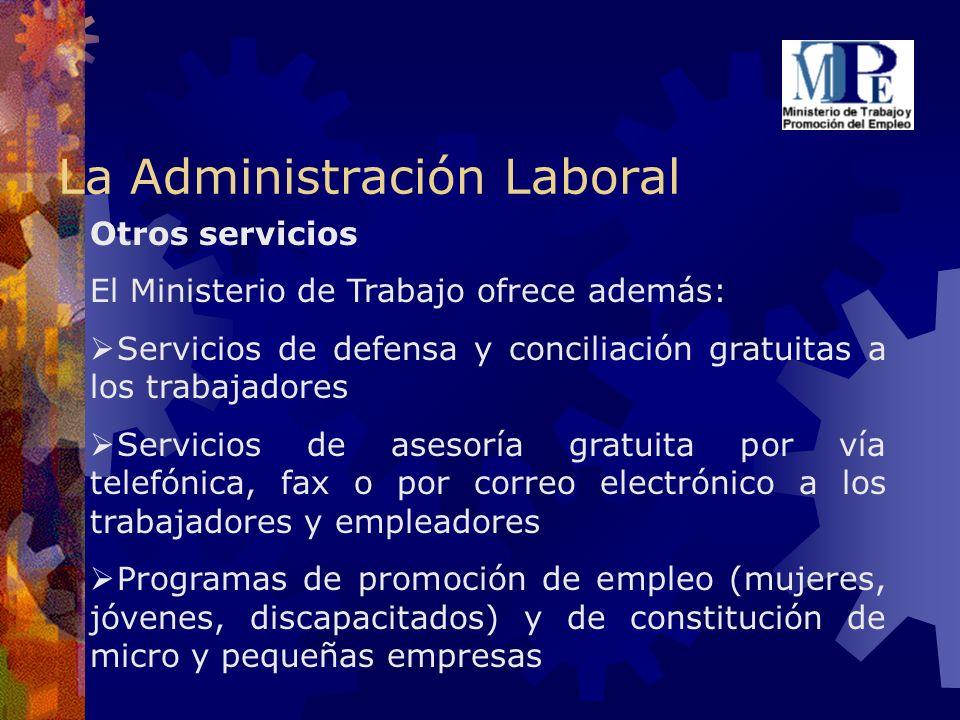 La Administración Laboral