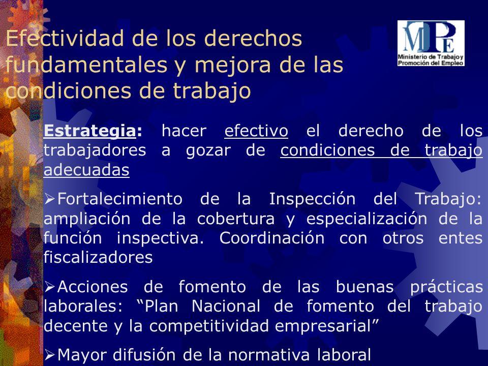 Efectividad de los derechos fundamentales y mejora de las condiciones de trabajo
