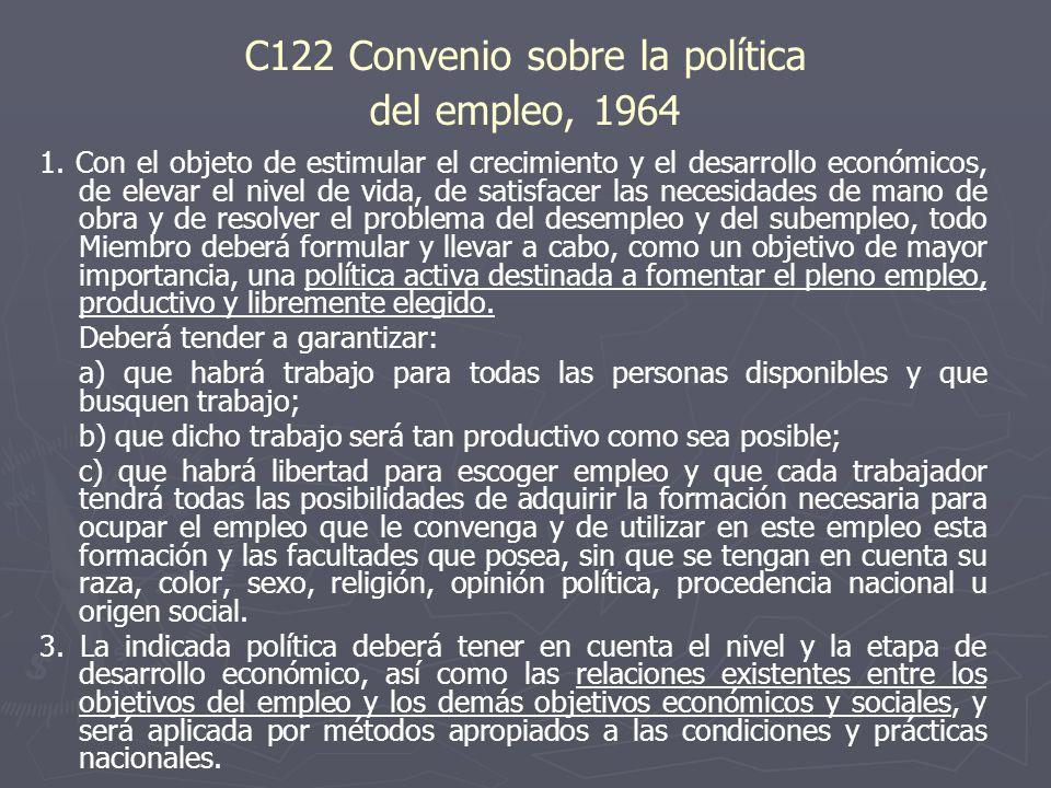C122 Convenio sobre la política del empleo, 1964