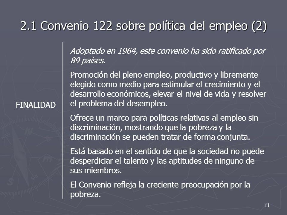 2.1 Convenio 122 sobre política del empleo (2)