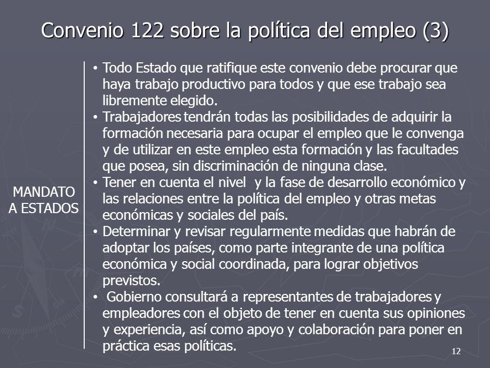 Convenio 122 sobre la política del empleo (3)