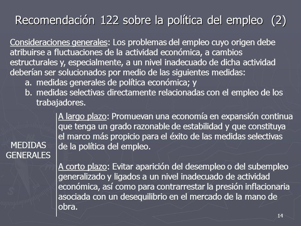 Recomendación 122 sobre la política del empleo (2)