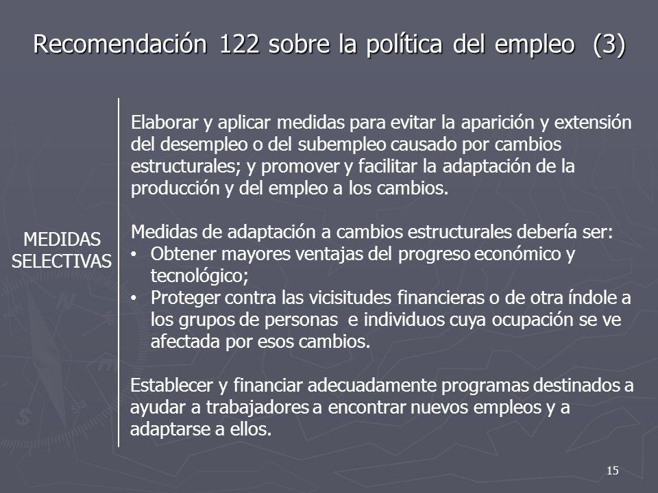 Recomendación 122 sobre la política del empleo (3)