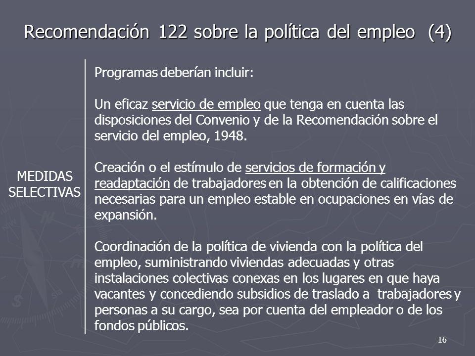 Recomendación 122 sobre la política del empleo (4)