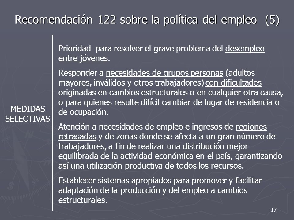 Recomendación 122 sobre la política del empleo (5)