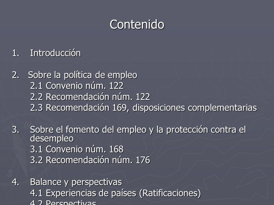 Contenido Introducción 2. Sobre la política de empleo