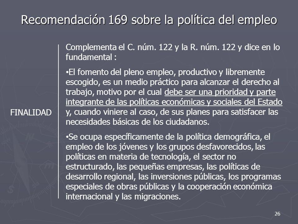 Recomendación 169 sobre la política del empleo