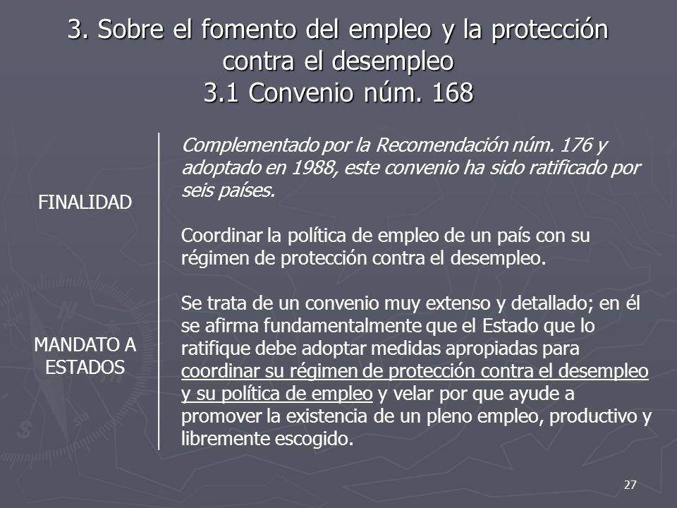 3. Sobre el fomento del empleo y la protección contra el desempleo 3