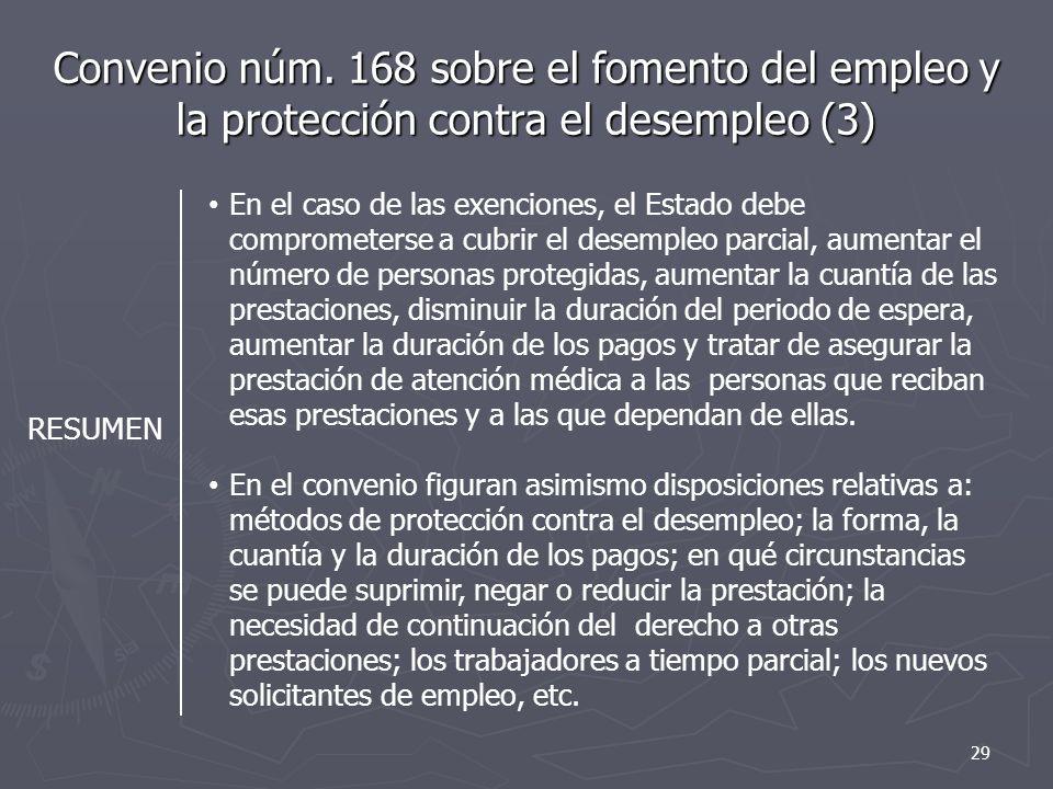 Convenio núm. 168 sobre el fomento del empleo y la protección contra el desempleo (3)