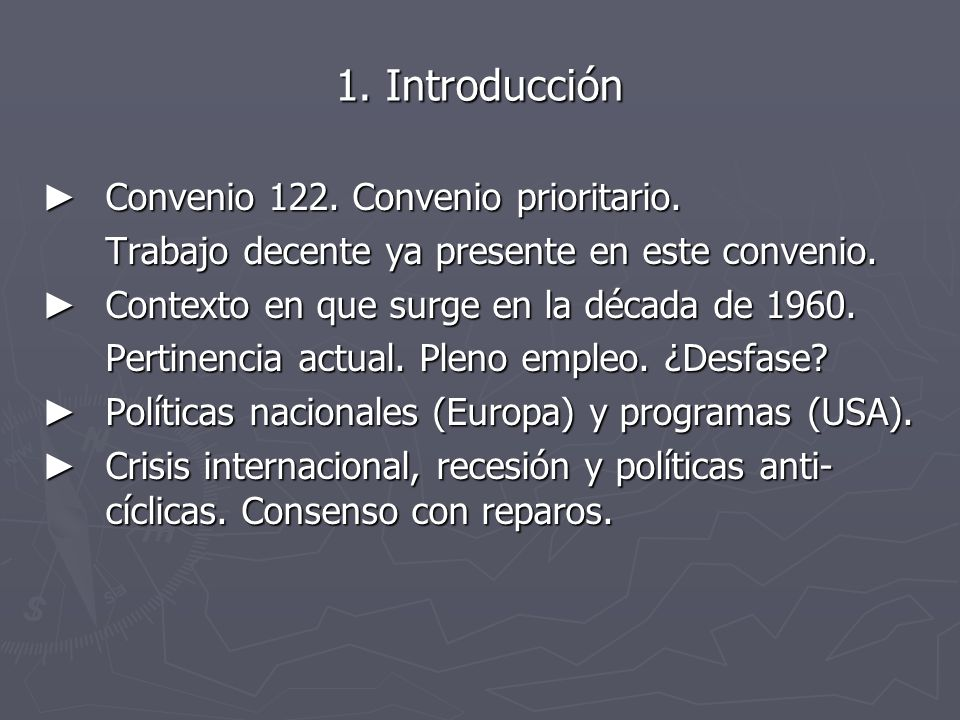 1. Introducción Convenio 122. Convenio prioritario.