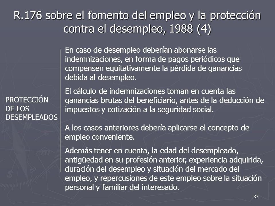 R.176 sobre el fomento del empleo y la protección contra el desempleo, 1988 (4)