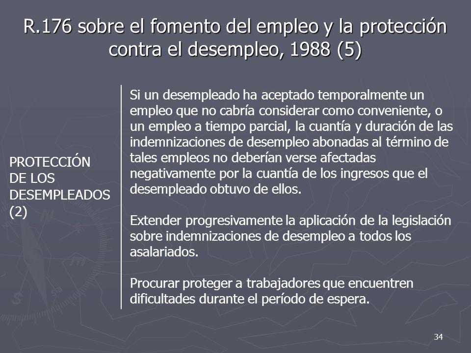 R.176 sobre el fomento del empleo y la protección contra el desempleo, 1988 (5)