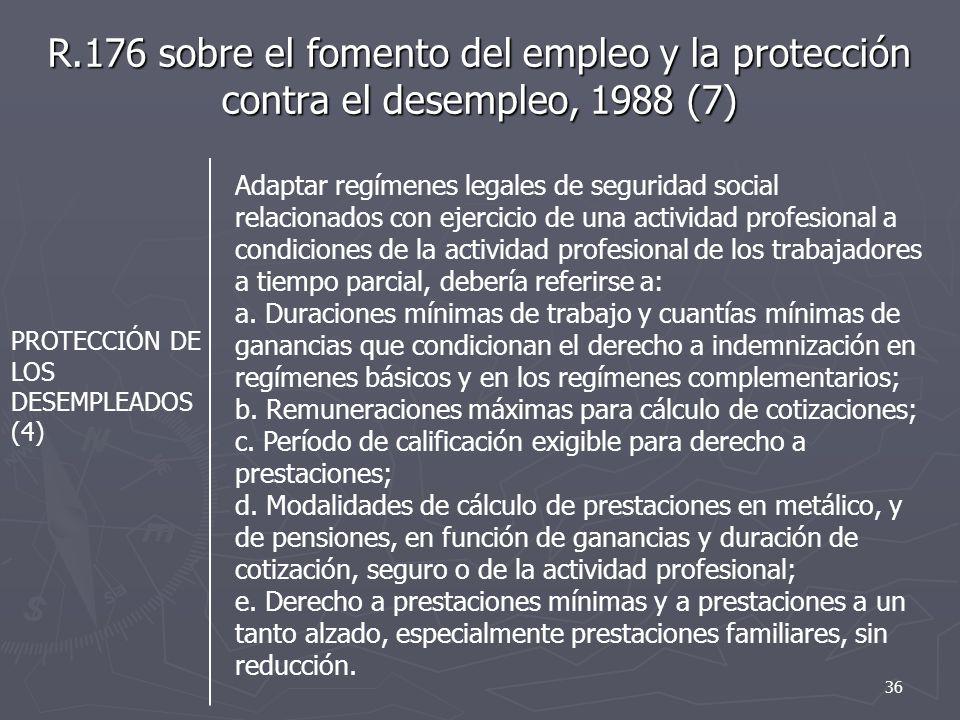 R.176 sobre el fomento del empleo y la protección contra el desempleo, 1988 (7)